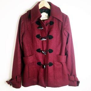 Nick & Mo Maroon wool pea coat
